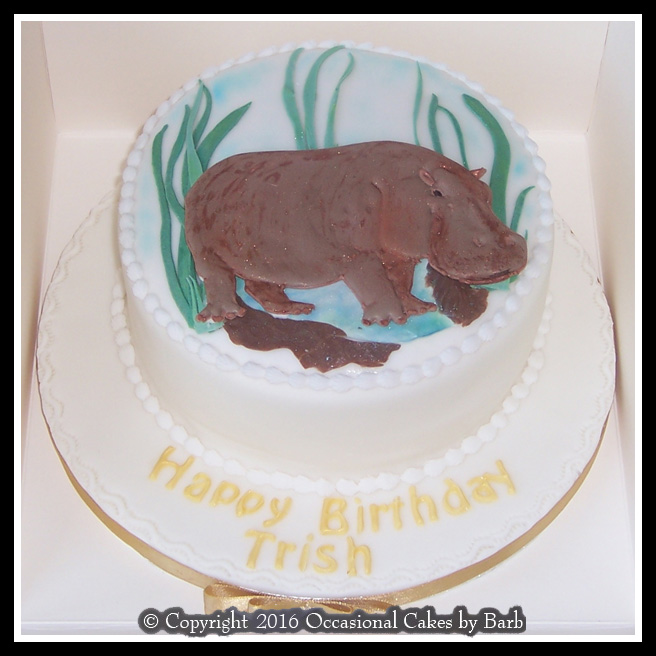 Hippo Birthday Cake
