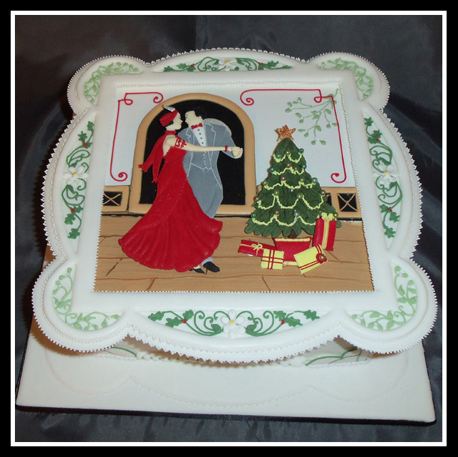 Art Deco Christmas Cake : Art deco christmas