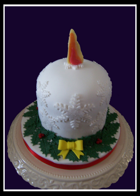 Christmas Candle Cake Images : snowflake candle