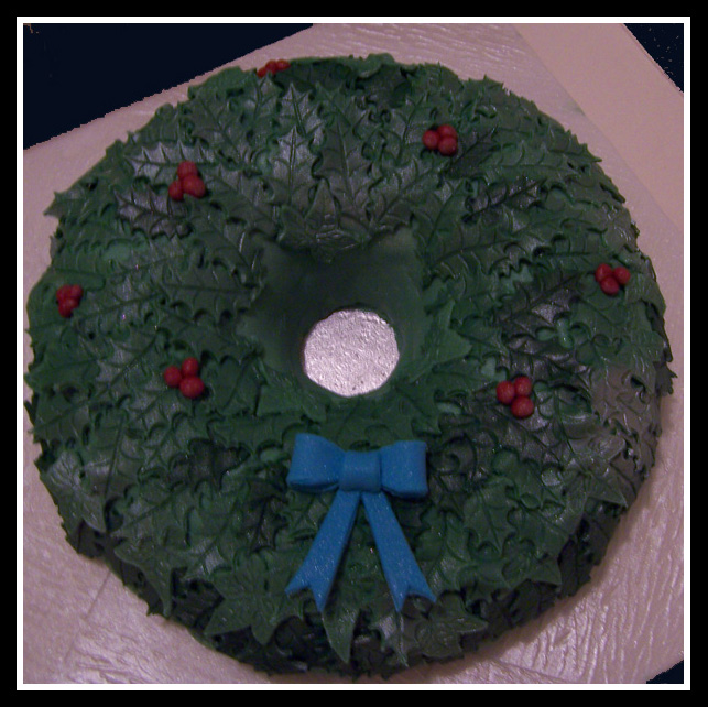 Bow Cake Blue